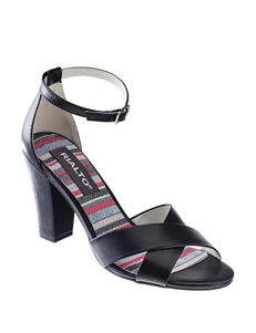 Rialto Black Heeled Sandals