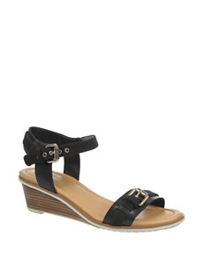Dr. Scholl's Black Wedge Sandals