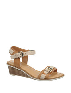 Dr. Scholl's Taupe Wedge Sandals