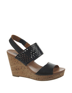 Dr. Scholl's Black Wedge Sandals