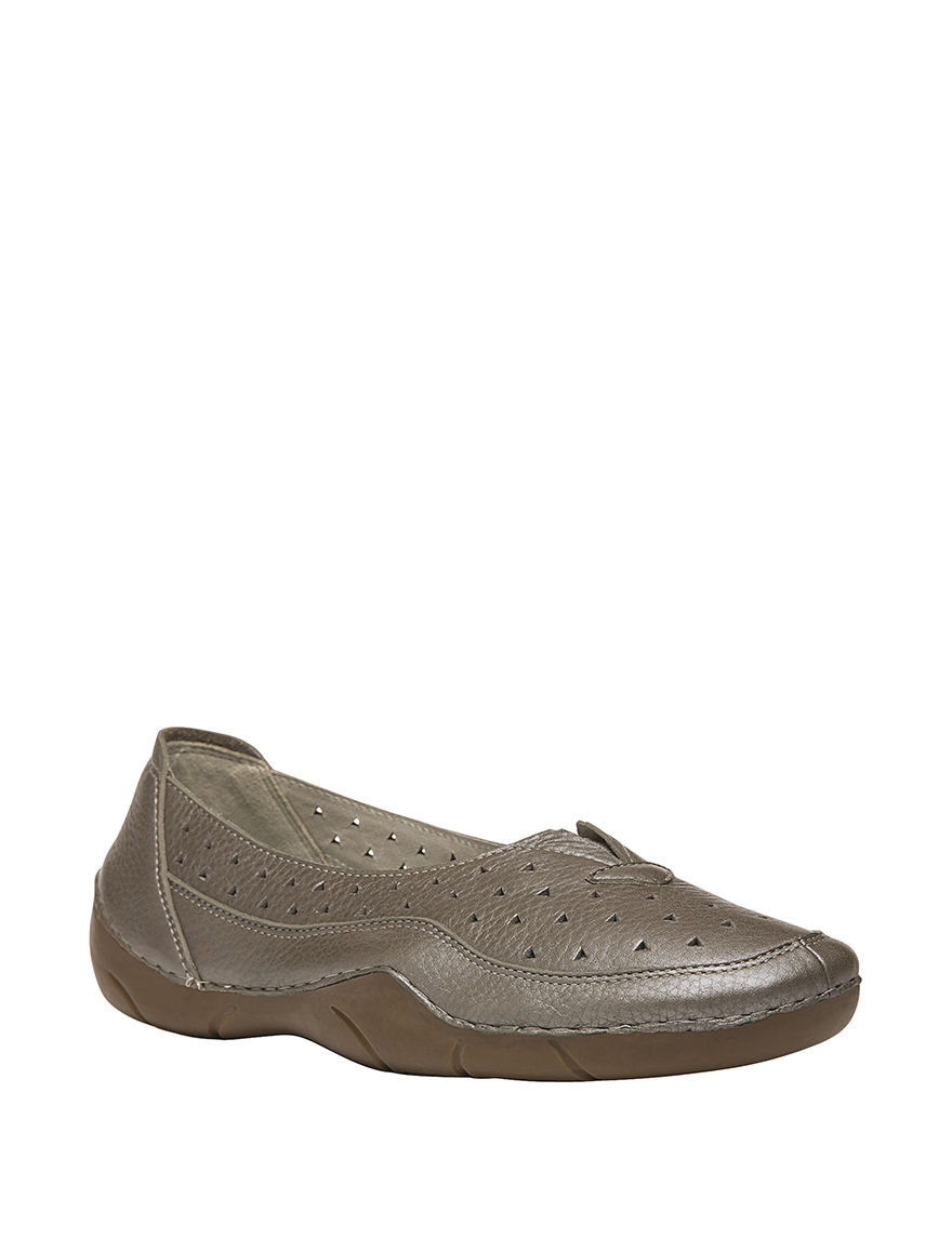 Propet Pewter Slipper Shoes