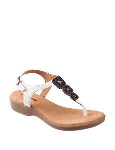 Rialto White Flat Sandals