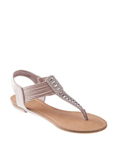 Madden Girl Pink Flat Sandals