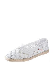 Rocket Dog White Slipper Shoes
