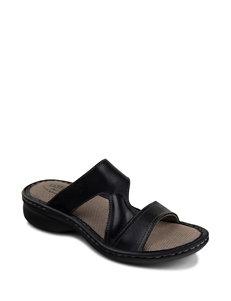 Eastland Black Flat Sandals