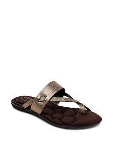 Eastland Gold Flat Sandals