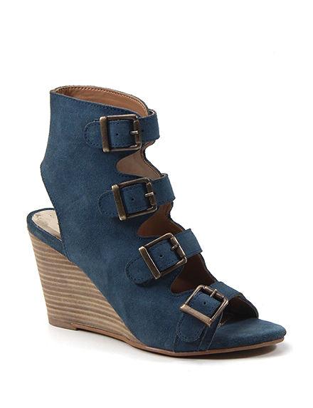 Diba True Denim Wedge Sandals
