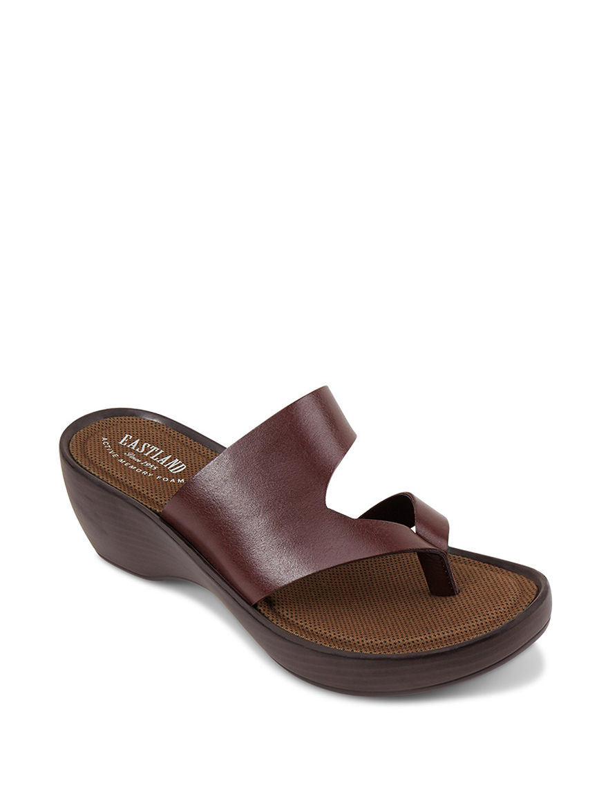 Eastland Brown Wedge Sandals