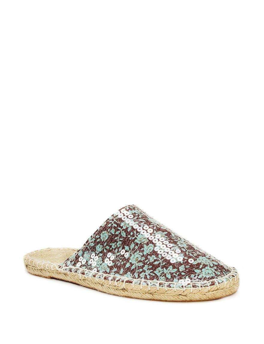 Muk Luks Brown Espadrille Flat Sandals