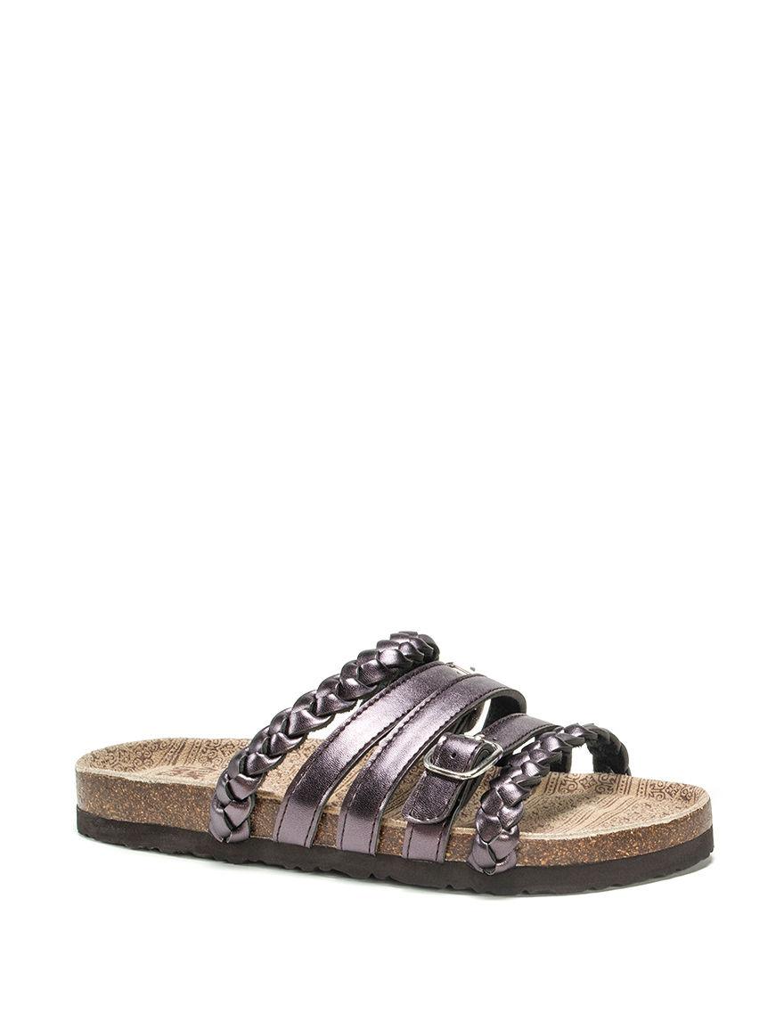 Muk Luks Purple Flat Sandals