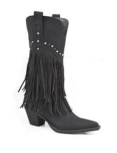 Roper Black Western & Cowboy Boots
