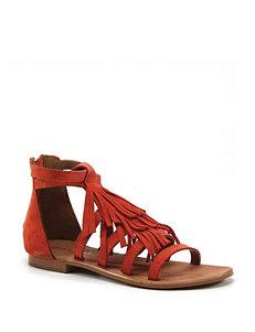 Diba True Orange Flat Sandals