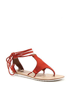 Diba True Orange Flat Sandals Gladiators