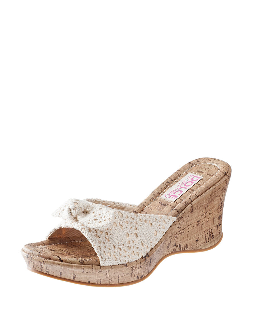 Dolce by Mojo Moxy Beige Wedge Sandals