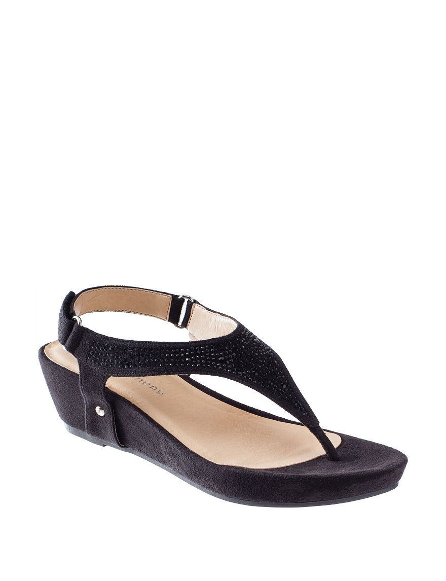CL Black Wedge Sandals