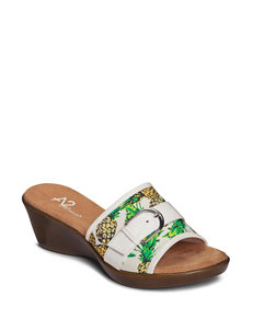 A2 by Aerosoles Floral Wedge Sandals Comfort