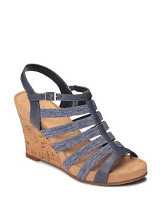 A2 by Aerosoles Magic Plush Wedge Sandals