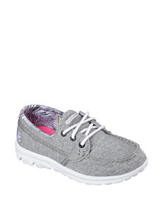 Skechers® GO Walk Lil Mariner Casual Shoes – Girls 11-3