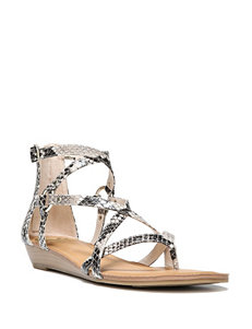 Fergie Natural Gladiators Wedge Sandals