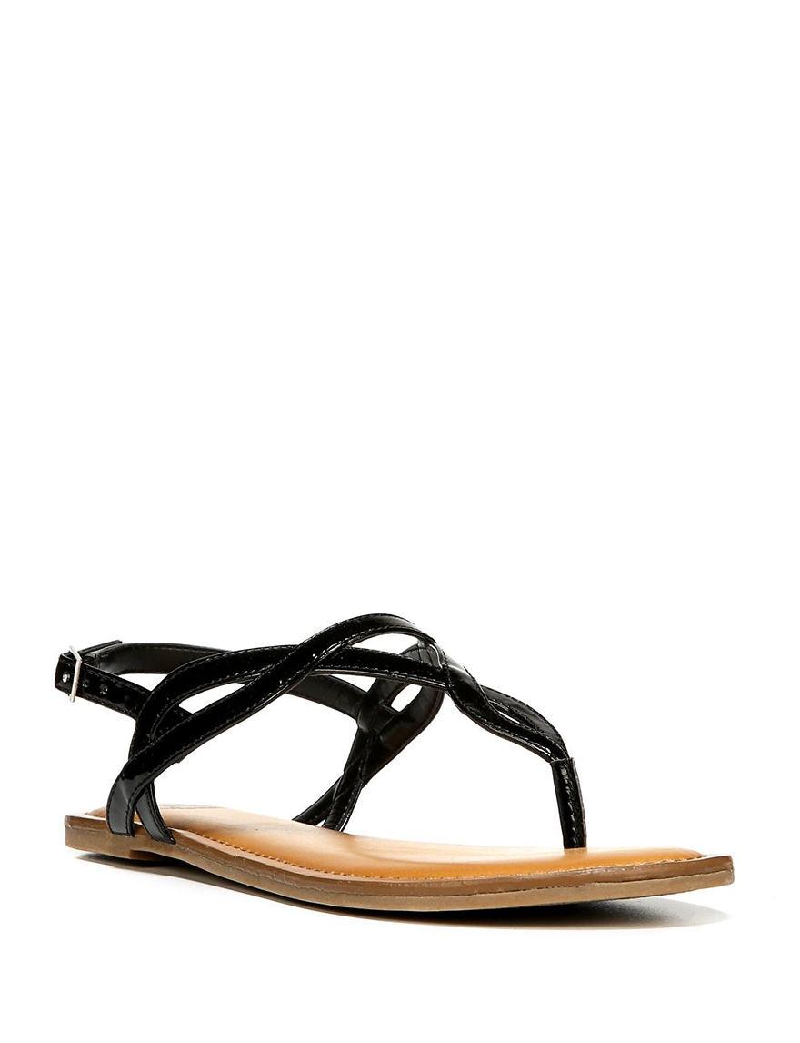 Fergalicious by Fergie Black Flat Sandals