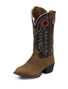 Tony Lama 3R Rojo Bridle Western Boots – Toddlers 8-13