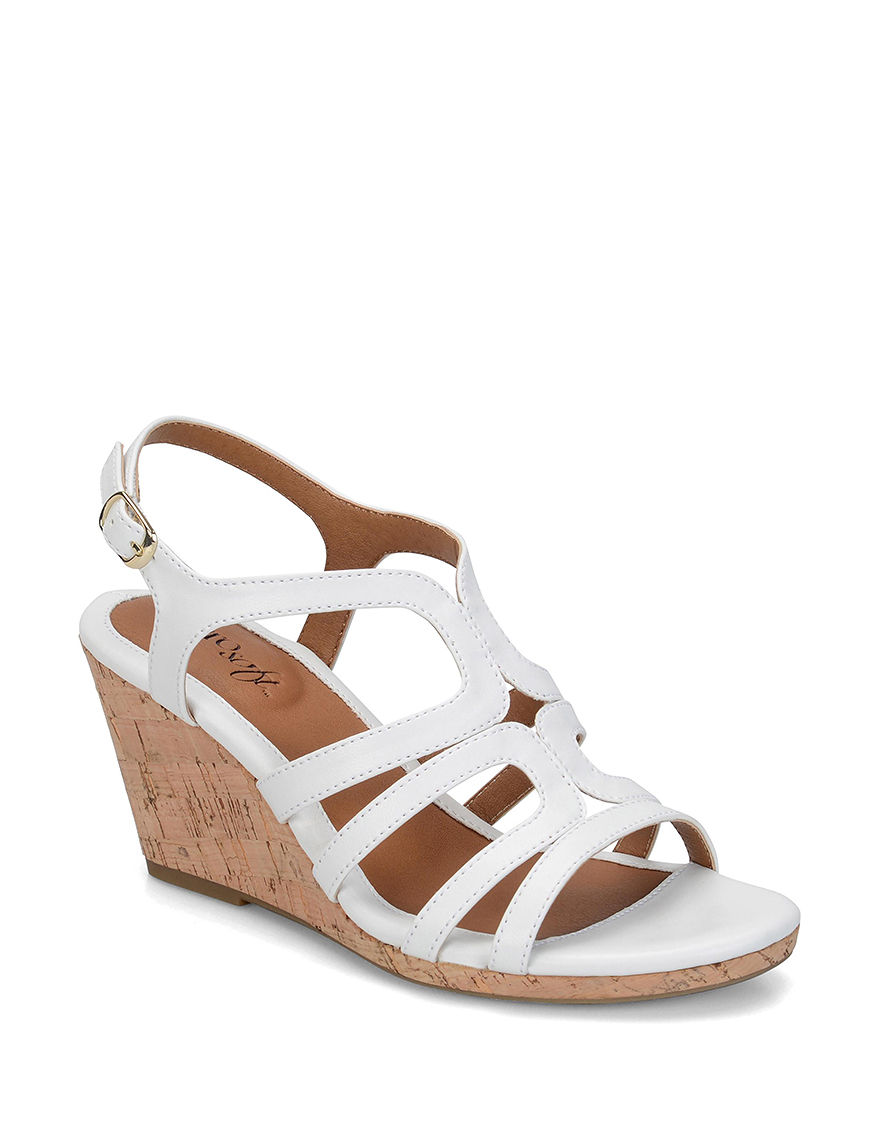 Eurosoft White Wedge Sandals