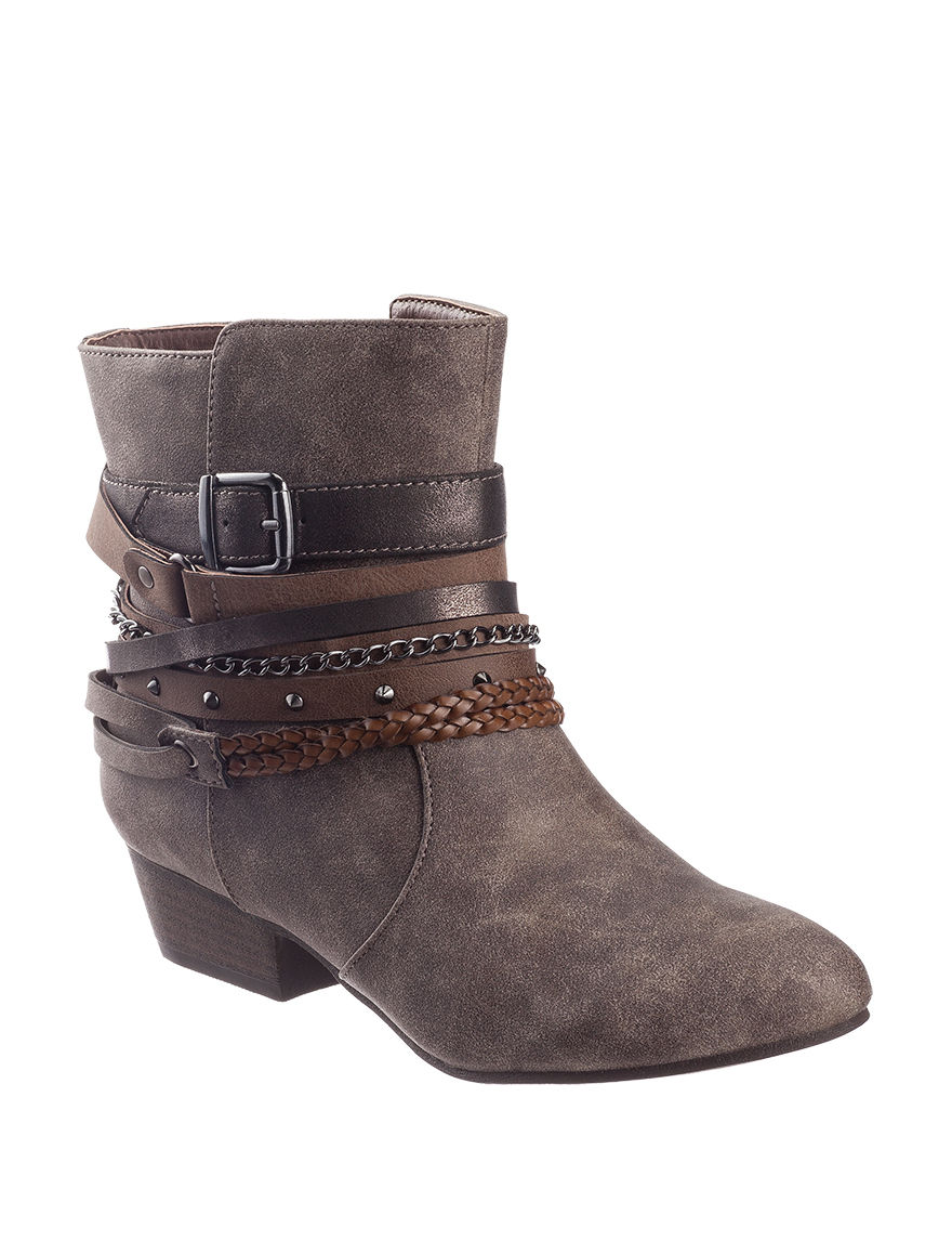Jellypop Grey/ Taupe Ankle Boots & Booties