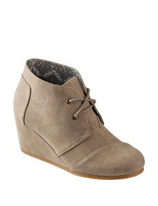 Jellypop Taupe Ankle Boots & Booties Wedge Boots