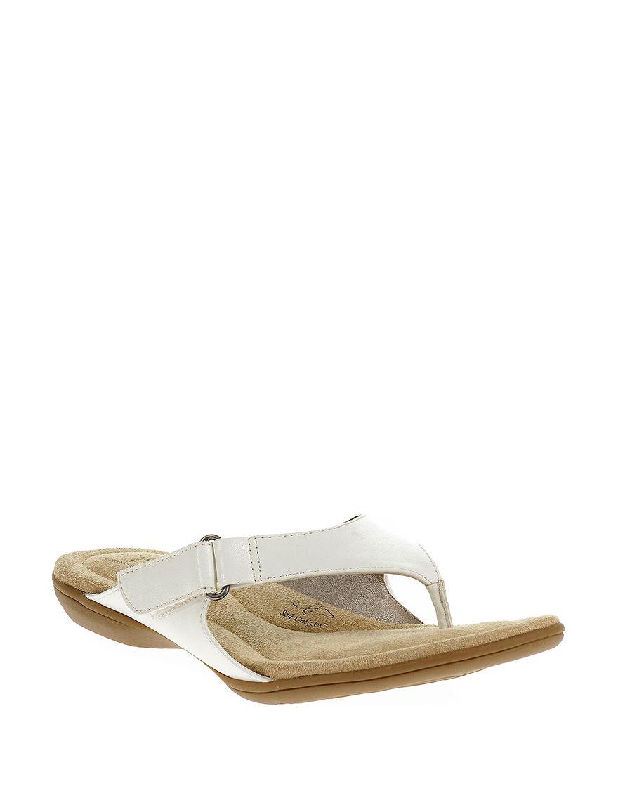 Soft Style White Flip Flops