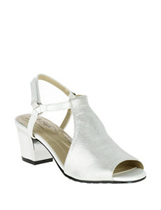 Soft Style White Heeled Sandals Comfort