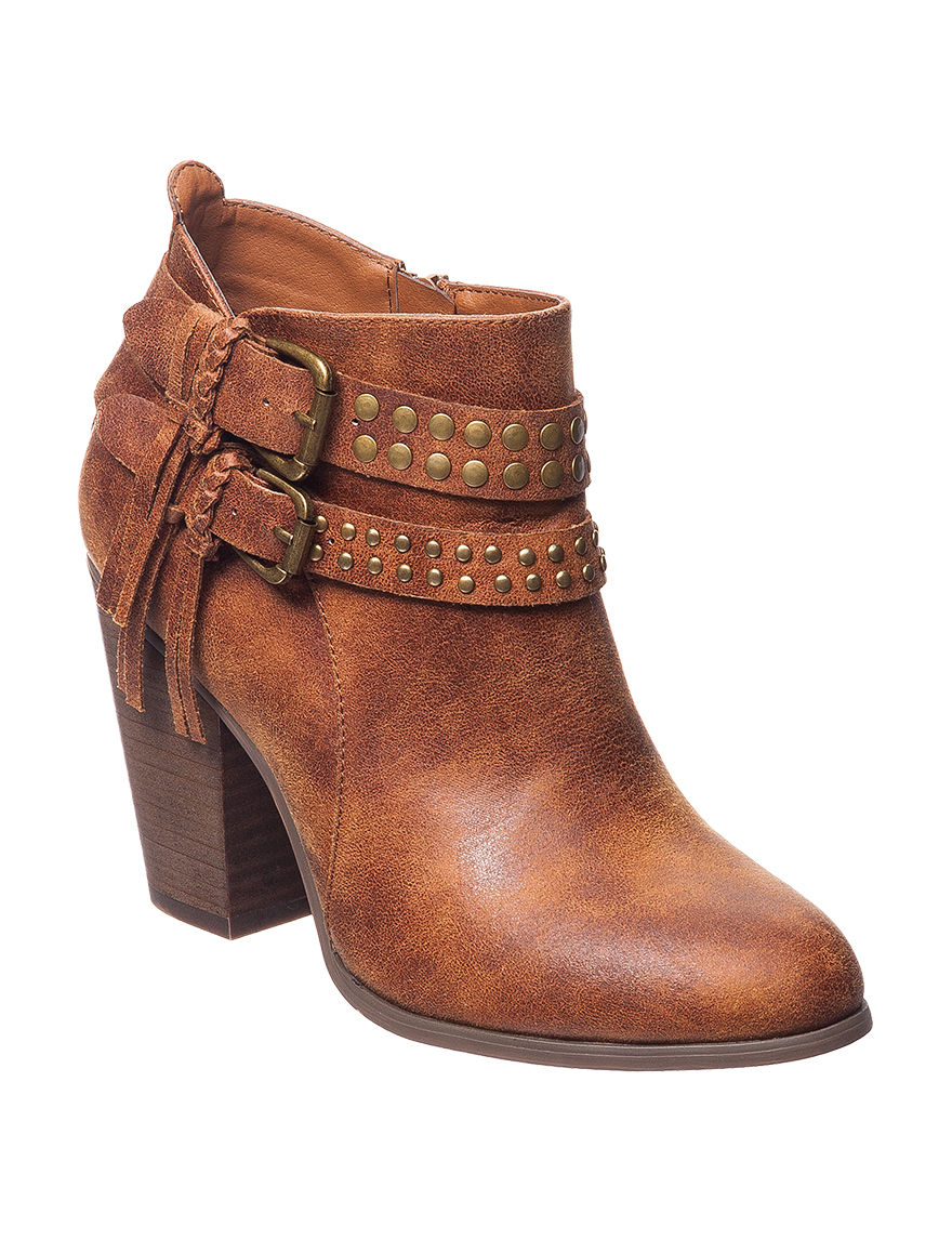 XOXO Cognac Ankle Boots & Booties