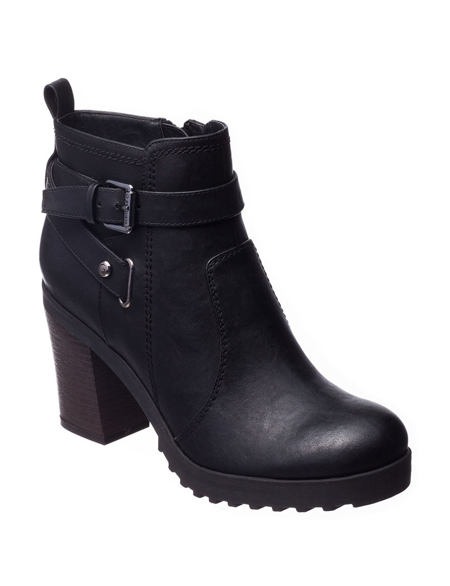 G by Guess Black Ankle Boots & Booties