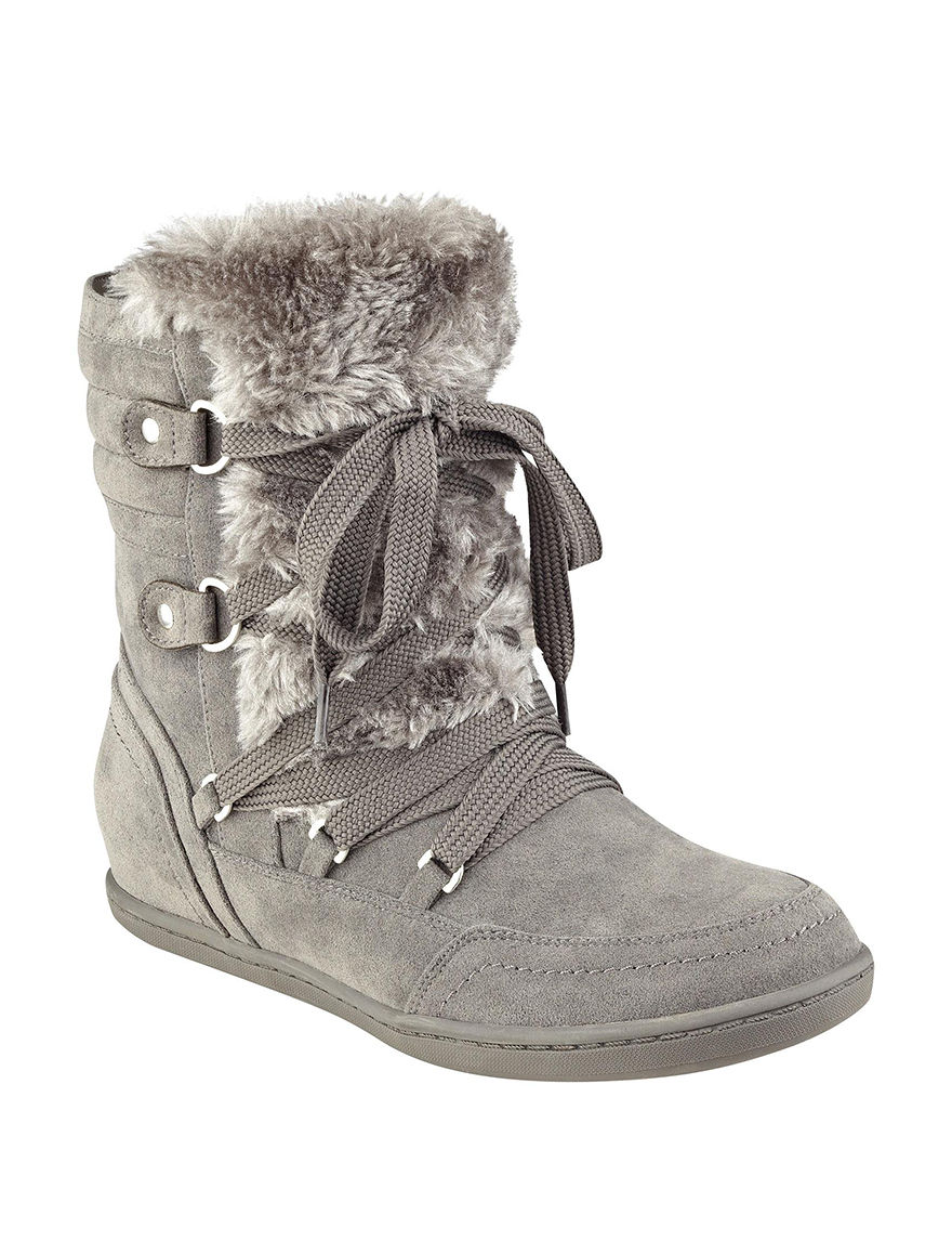 G by Guess Charcoal Ankle Boots & Booties Winter Boots