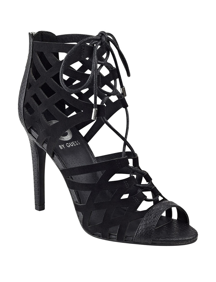 G by Guess Black Heeled Sandals