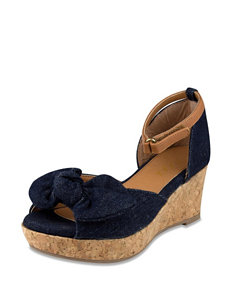 Sugar Licorice Wedge Sandal – Girls 11-4