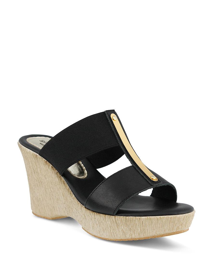 Spring Step Black Espadrille Sandals