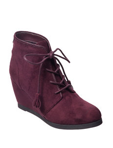 Madden Girl Burgundy Ankle Boots & Booties