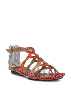 Spring Step Red Flat Sandals Gladiators