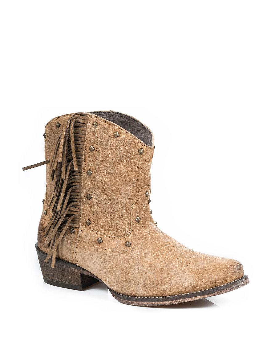 Roper Tan Western & Cowboy Boots