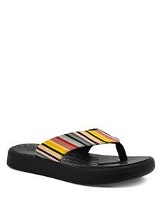Soft Science Yellow / Black Flip Flops
