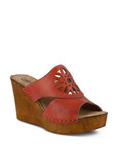 Spring Step Bershka Wedge Slide Sandals
