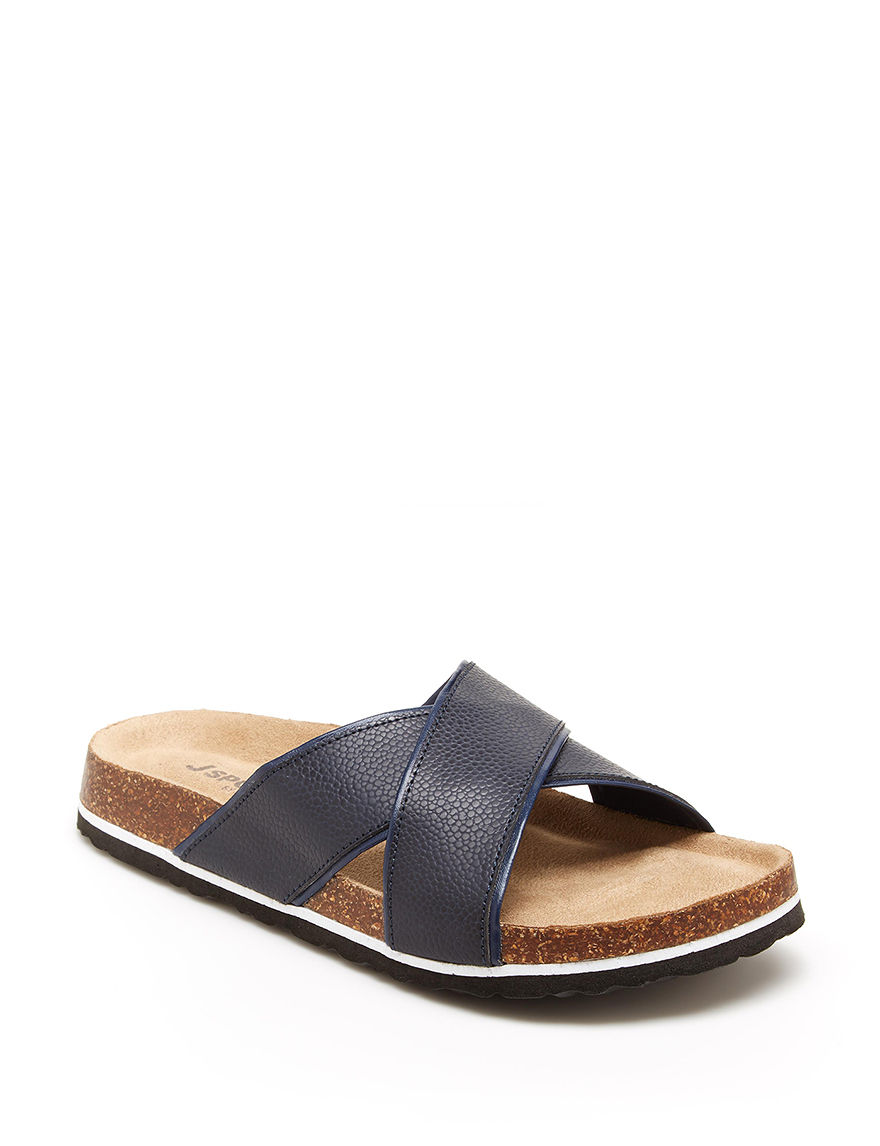 JBU Dark Blue Slide Sandals