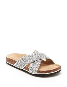JBU Silver Slide Sandals