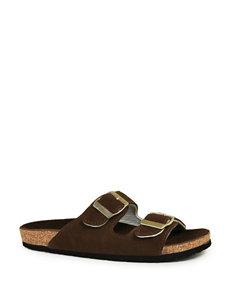 LAMO Footwear Brown Flat Sandals