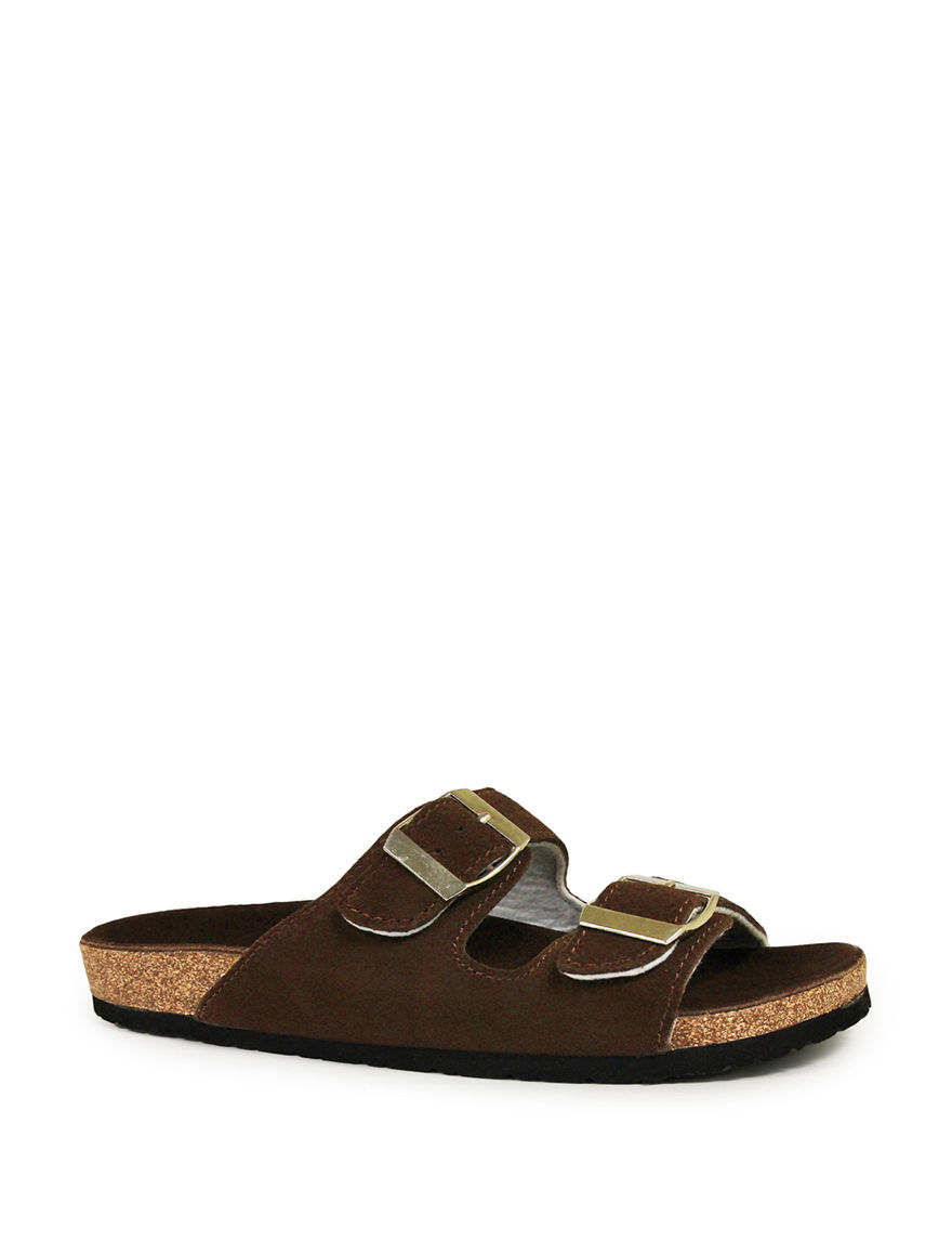 LAMO Footwear Brown Flip Flops