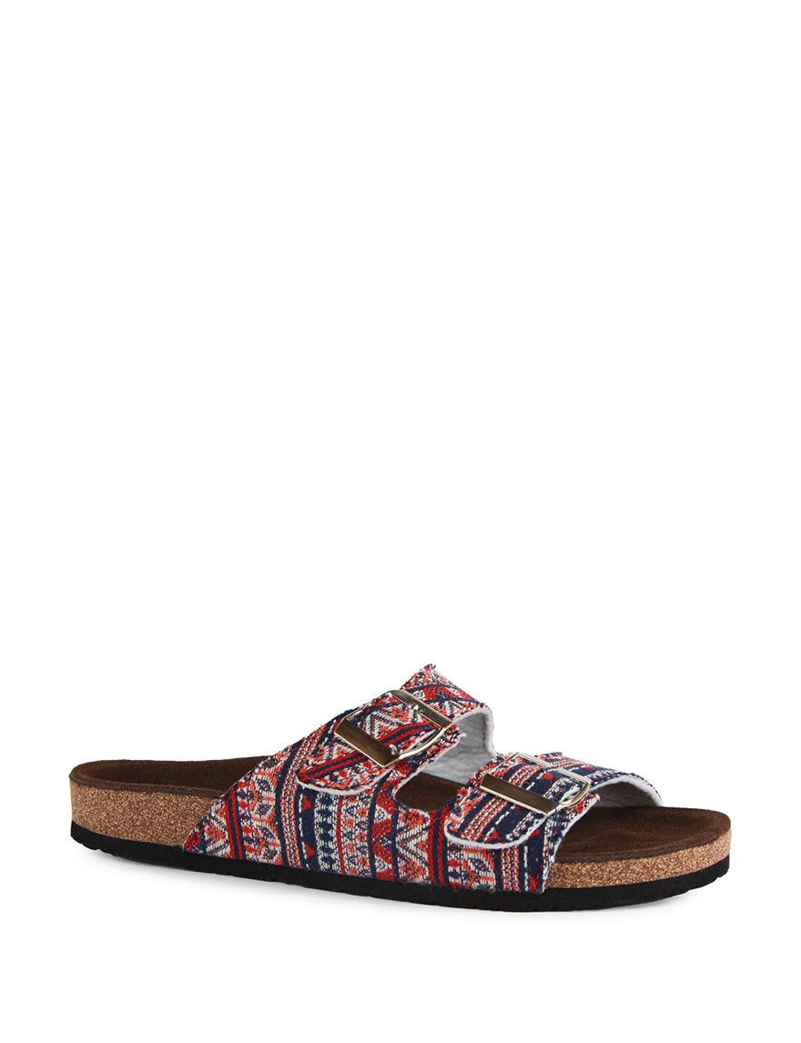 LAMO Footwear Red Flip Flops