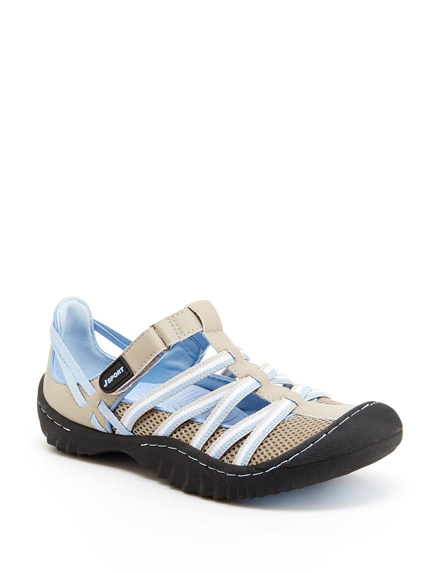 JSport by Jambu Grey / Blue Sport Sandals