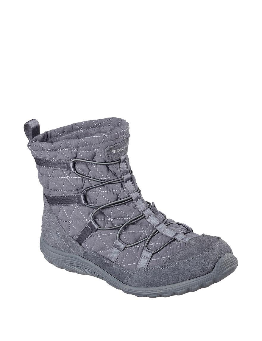Skechers Dark Grey Ankle Boots & Booties
