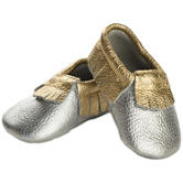 Itzy Ritzy Moc Happens™ Leather Baby Moccasins – Baby 0-18 Mos.