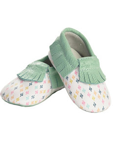 Itzy Ritzy Moc Happens Leather Baby Moccasins – Baby 0-18 Mos.